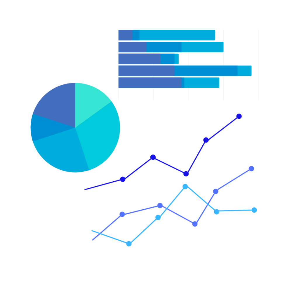 business intelligence and analytics charts